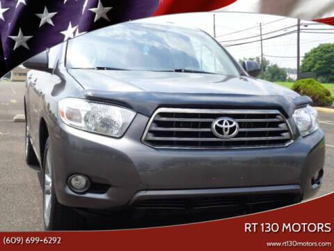 2008 Toyota Highlander for sale at RT 130 Motors in Burlington NJ