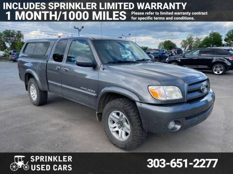 2006 Toyota Tundra for sale at Sprinkler Used Cars in Longmont CO