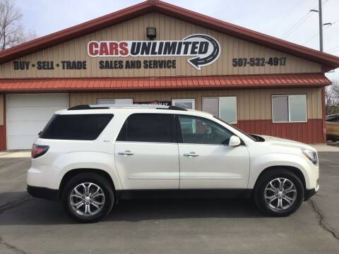 2015 GMC Acadia for sale at Cars Unlimited in Marshall MN