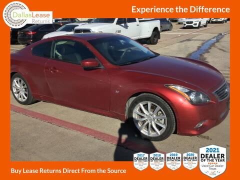 2015 Infiniti Q60 Coupe for sale at Dallas Auto Finance in Dallas TX