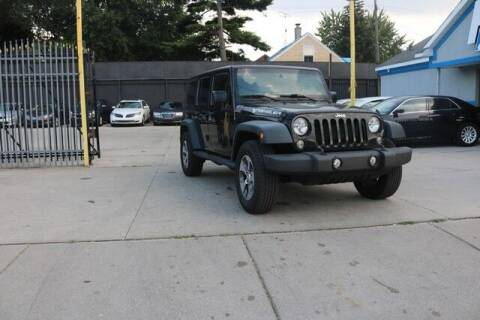 2015 Jeep Wrangler Unlimited for sale at F & M AUTO SALES in Detroit MI