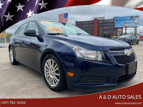 2011 Chevrolet Cruze for sale at A & D Auto Sales in Joplin MO