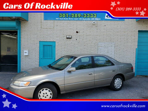 1998 Toyota Camry for sale at Cars Of Rockville in Rockville MD