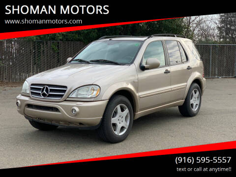 2001 Mercedes-Benz M-Class for sale at SHOMAN AUTO GROUP in Davis CA