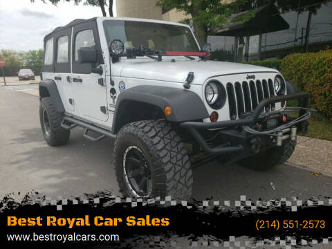 2012 Jeep Wrangler Unlimited for sale at Best Royal Car Sales in Dallas TX