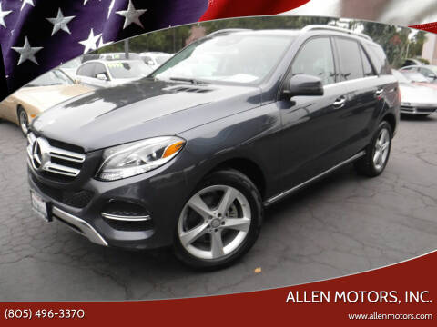 2016 Mercedes-Benz GLE for sale at Allen Motors, Inc. in Thousand Oaks CA