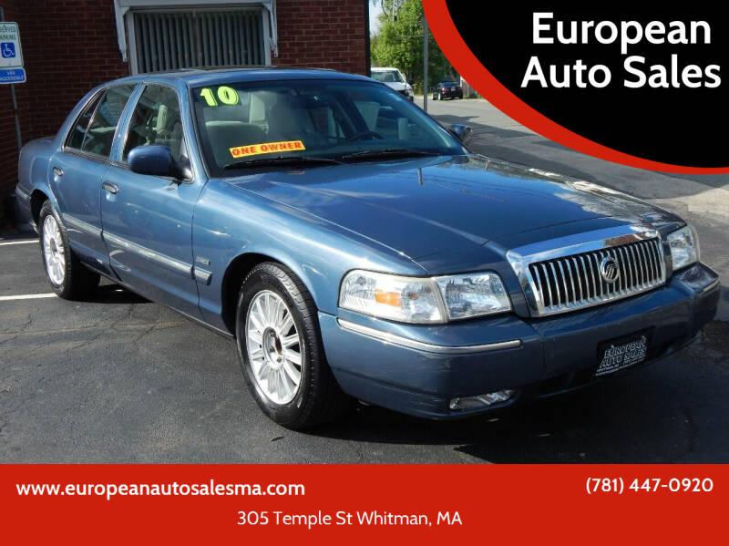 2010 Mercury Grand Marquis for sale at European Auto Sales in Whitman MA