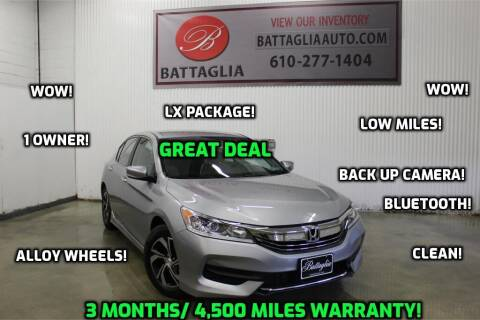2017 Honda Accord for sale at Battaglia Auto Sales in Plymouth Meeting PA