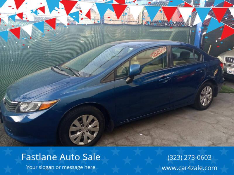 2012 Honda Civic for sale at Fastlane Auto Sale in Los Angeles CA