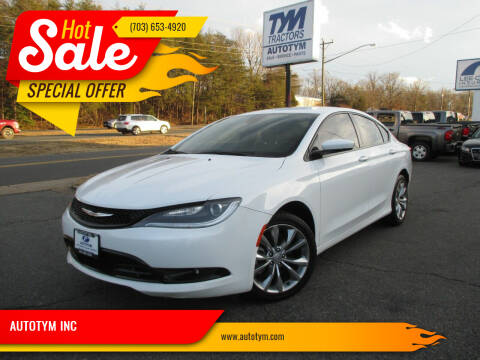 2015 Chrysler 200 for sale at AUTOTYM INC in Fredericksburg VA