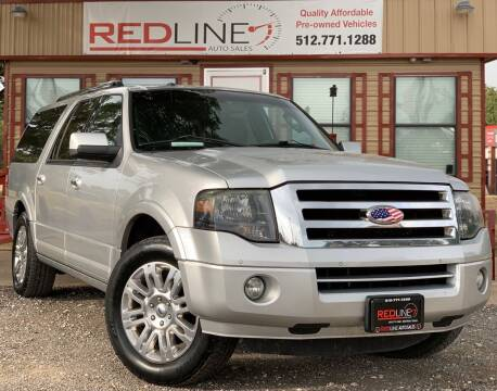 2012 Ford Expedition EL for sale at REDLINE AUTO SALES LLC in Cedar Creek TX