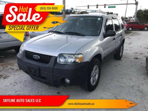2006 Ford Escape Hybrid for sale at SKYLINE AUTO SALES LLC in Winter Haven FL