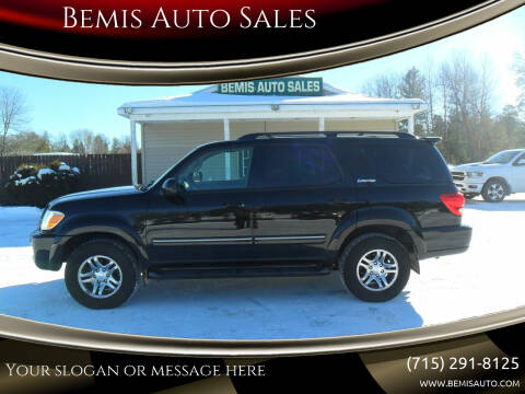 2005 Toyota Sequoia for sale at Bemis Auto Sales in Crivitz WI