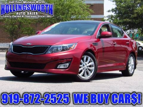 2015 Kia Optima for sale at Hollingsworth Auto Sales in Raleigh NC