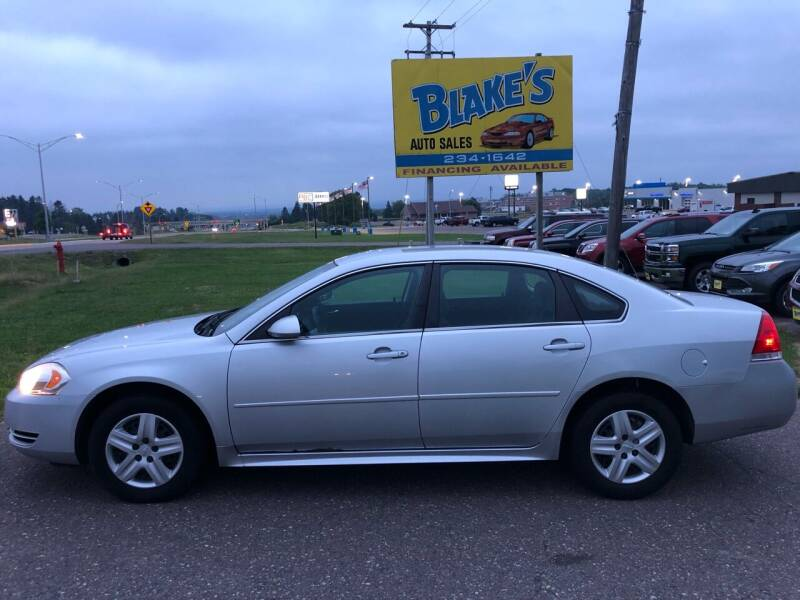 2010 Chevrolet Impala for sale at Blake's Auto Sales in Rice Lake WI