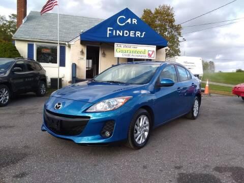 2012 Mazda MAZDA3 for sale at CAR FINDERS OF MARYLAND LLC in Eldersburg MD