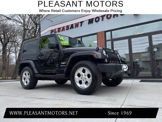 2014 Jeep Wrangler for sale at Pleasant Motors in New Bedford MA