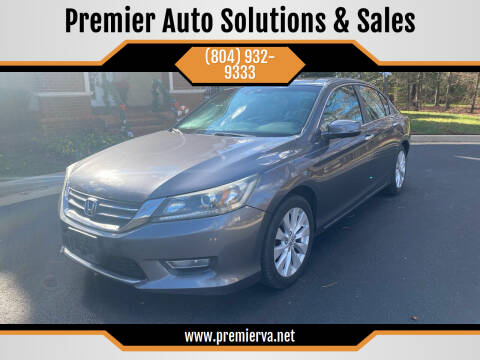 2013 Honda Accord for sale at Premier Auto Solutions & Sales in Quinton VA