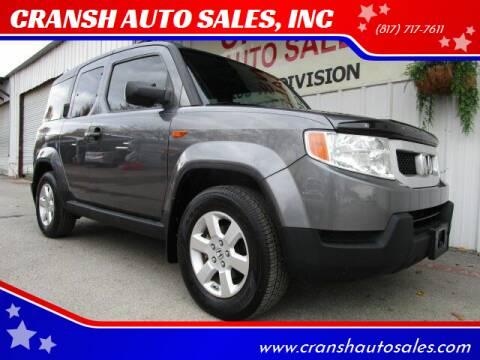 2011 Honda Element for sale at CRANSH AUTO SALES, INC in Arlington TX