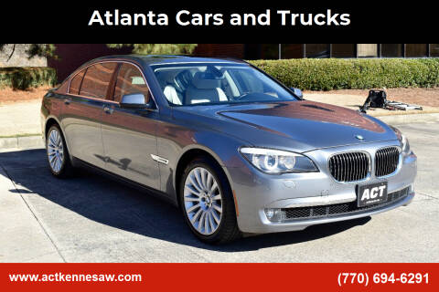 2012 BMW 7 Series for sale at Atlanta Cars and Trucks in Kennesaw GA