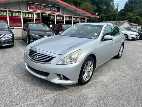 2012 Infiniti G37 Sedan for sale at Mira Auto Sales in Raleigh NC