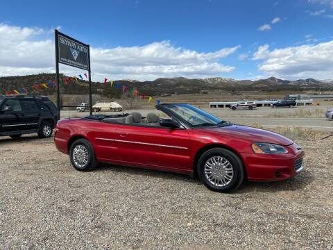 2002 Chrysler Sebring for sale at Skyway Auto INC in Durango CO