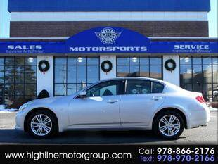 2013 Infiniti G37 Sedan for sale at Highline Group Motorsports in Lowell MA