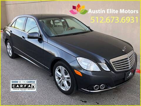 2011 Mercedes-Benz E-Class for sale at Austin Elite Motors in Austin TX