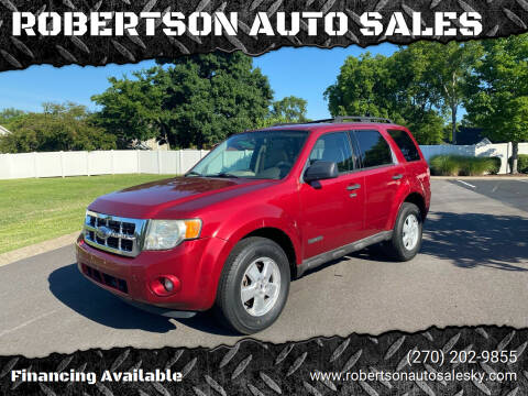 2008 Ford Escape for sale at ROBERTSON AUTO SALES in Bowling Green KY