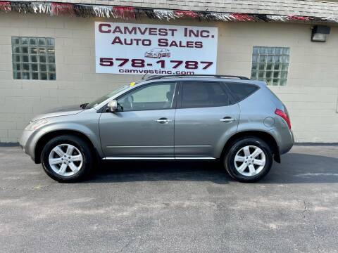 2007 Nissan Murano for sale at Camvest Inc. Auto Sales in Depew NY