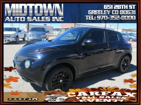 2013 Nissan JUKE for sale at MIDTOWN AUTO SALES INC in Greeley CO