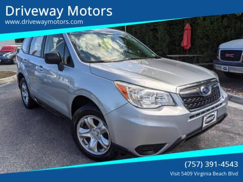 2014 Subaru Forester for sale at Driveway Motors in Virginia Beach VA