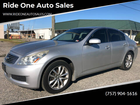 2008 Infiniti G35 for sale at Ride One Auto Sales in Norfolk VA