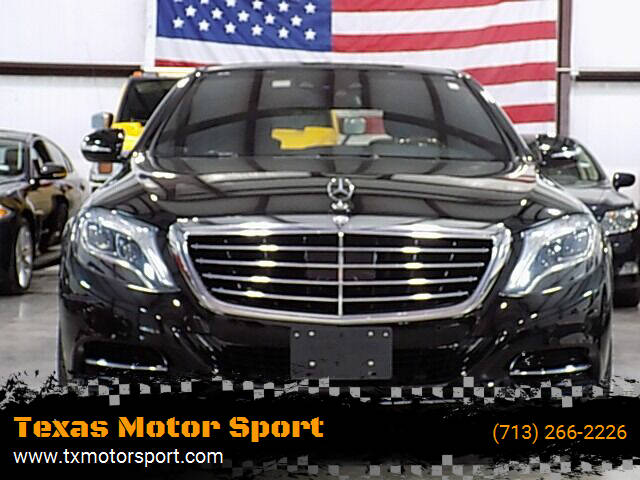 2014 Mercedes-Benz S-Class for sale at Texas Motor Sport in Houston TX