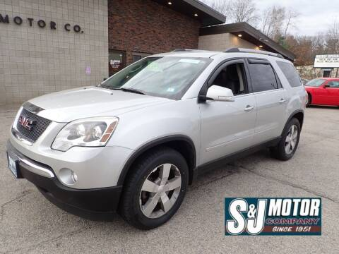 2012 GMC Acadia for sale at S & J Motor Co Inc. in Merrimack NH