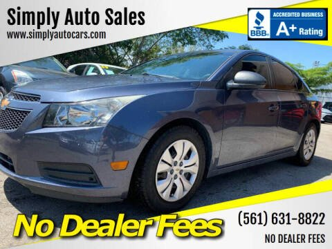 2014 Chevrolet Cruze for sale at Simply Auto Sales in Palm Beach Gardens FL
