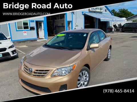 2013 Toyota Corolla for sale at Bridge Road Auto in Salisbury MA