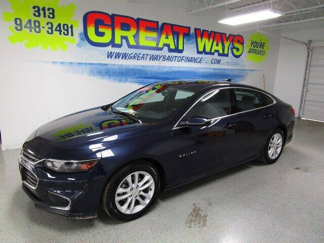 2016 Chevrolet Malibu for sale at Great Ways Auto Finance in Redford MI