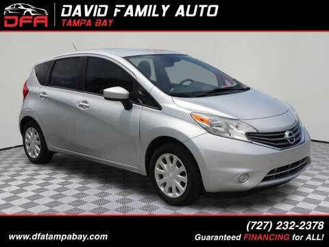 2016 Nissan Versa Note for sale at David Family Auto in New Port Richey FL