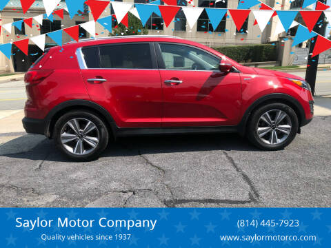 2014 Kia Sportage for sale at Saylor Motor Company in Somerset PA