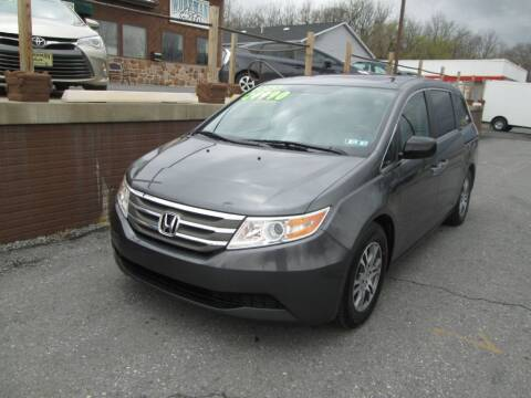 2013 Honda Odyssey for sale at WORKMAN AUTO INC in Pleasant Gap PA