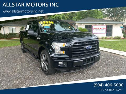 2016 Ford F-150 for sale at ALLSTAR MOTORS INC in Middleburg FL