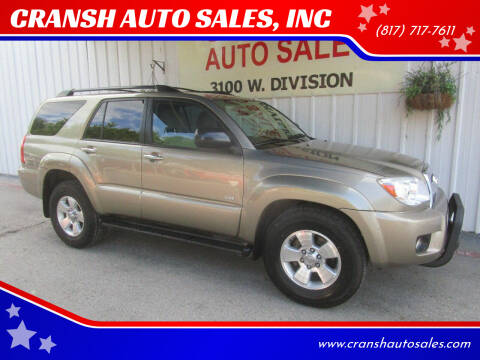 2007 Toyota 4Runner for sale at CRANSH AUTO SALES, INC in Arlington TX
