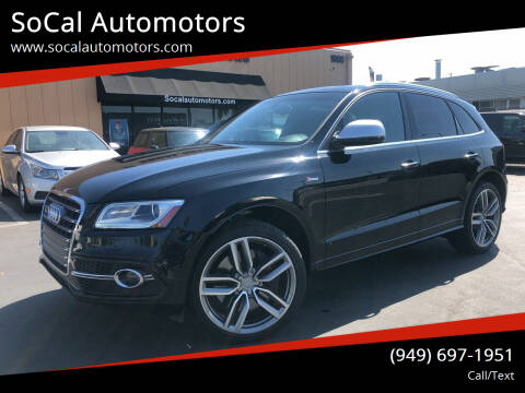 2015 Audi SQ5 for sale at SoCal Auto Motors in Costa Mesa CA