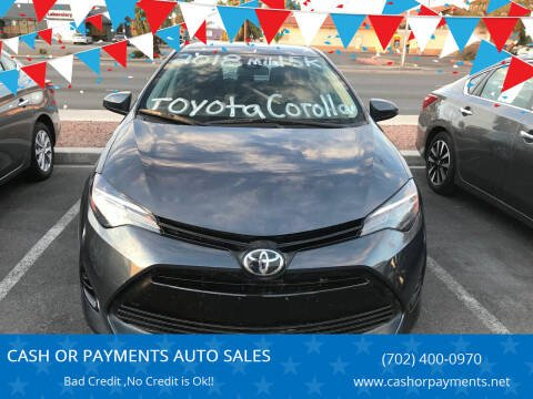 2018 Toyota Corolla for sale at CASH OR PAYMENTS AUTO SALES in Las Vegas NV