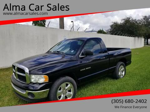 2005 Dodge Ram Pickup 1500 for sale at Alma Car Sales in Miami FL