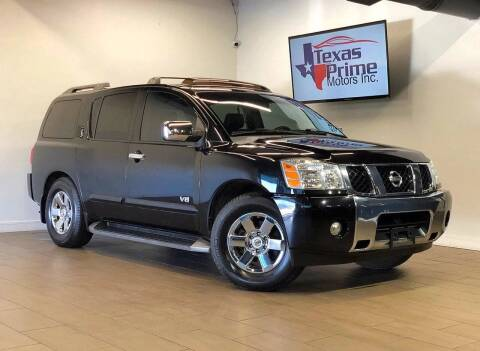 2007 Nissan Armada for sale at Texas Prime Motors in Houston TX