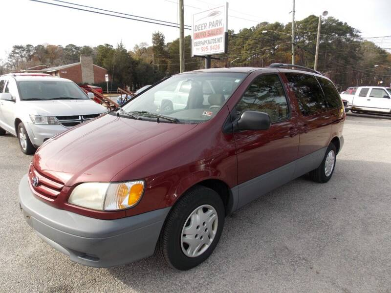 2003 Toyota Sienna for sale at Deer Park Auto Sales Corp in Newport News VA