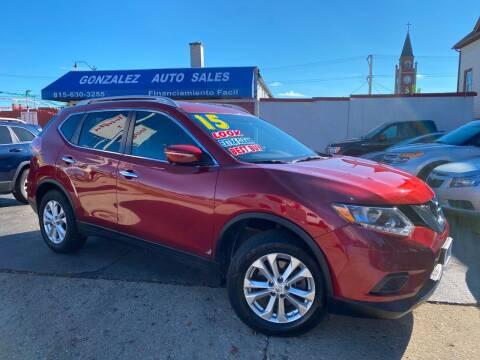 2015 Nissan Rogue for sale at Gonzalez Auto Sales in Joliet IL