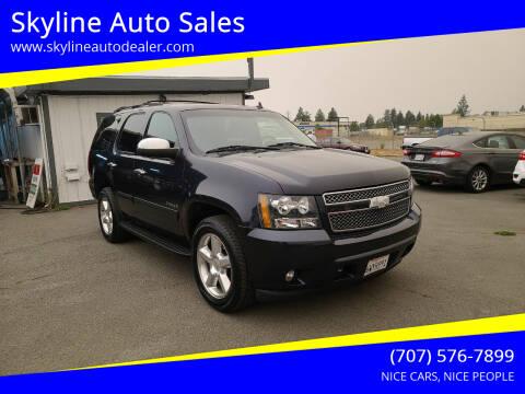 2013 Chevrolet Tahoe for sale at Skyline Auto Sales in Santa Rosa CA